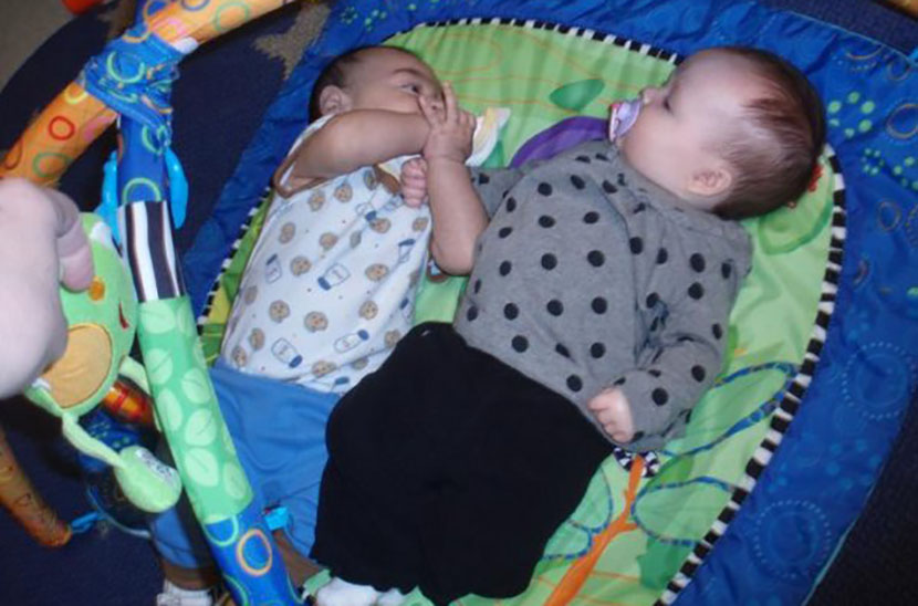 cute babies in mobile at a Preschool & Daycare Serving Albuquerque NM