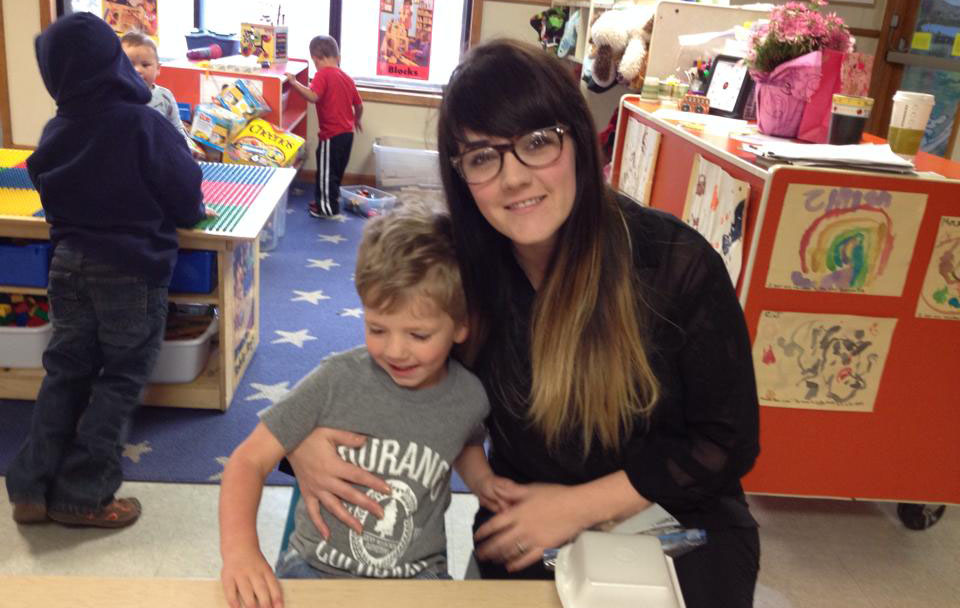 mom and son smiling at a Preschool & Daycare Serving Albuquerque NM